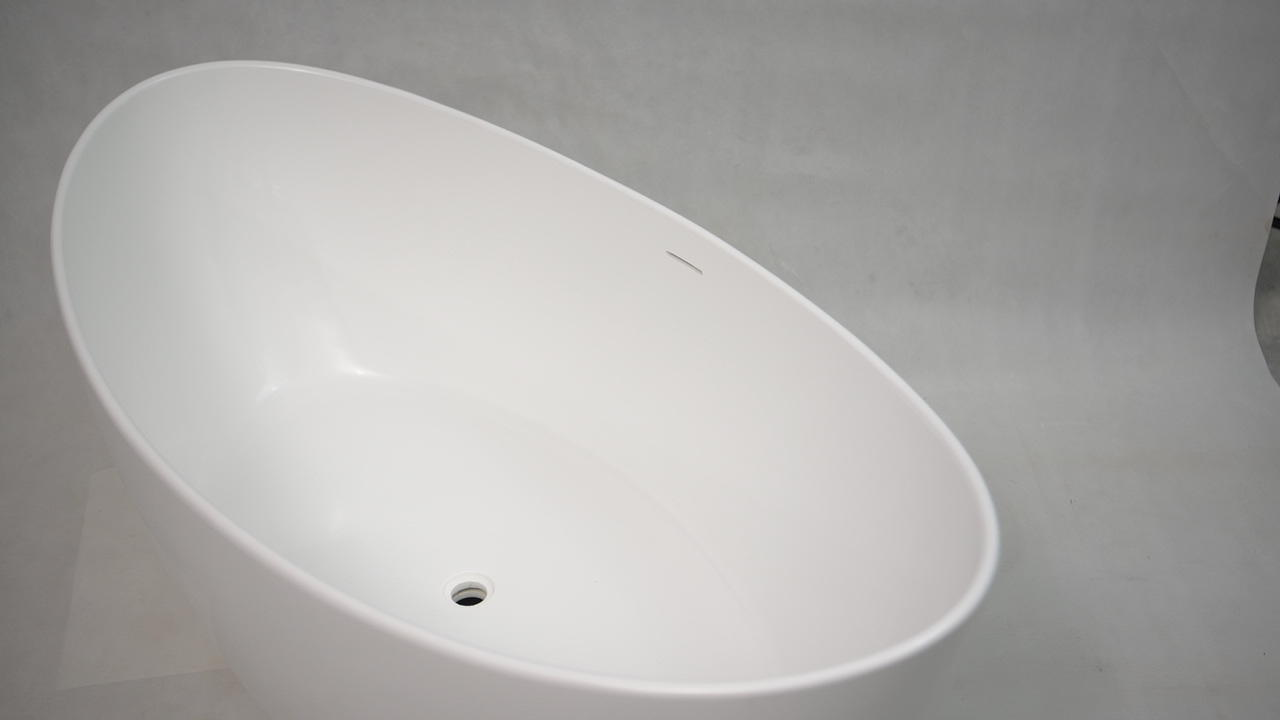 Bellissimo-Best Customsolid Surface Bathroom Free Standing Bathtub Bs-8633a Manufacture-1