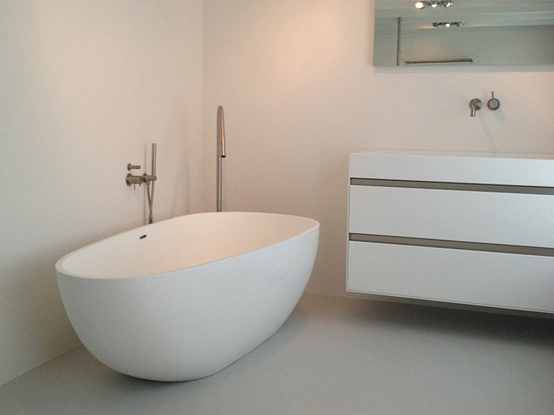 Oval design color optional luxury solid surface bathtub BS-8608