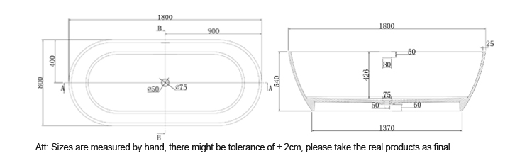 Bellissimo-Find Manufacture About Oval Freestanding Solid Surface Resin Bathroom Bathtub-4