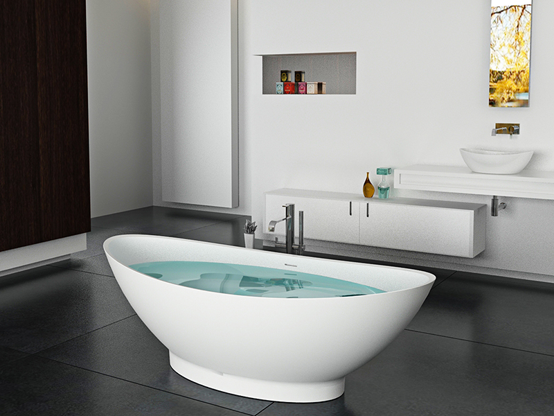 Special Shape artificial freestanding solid surface acrylic resin bathtub BS-8609