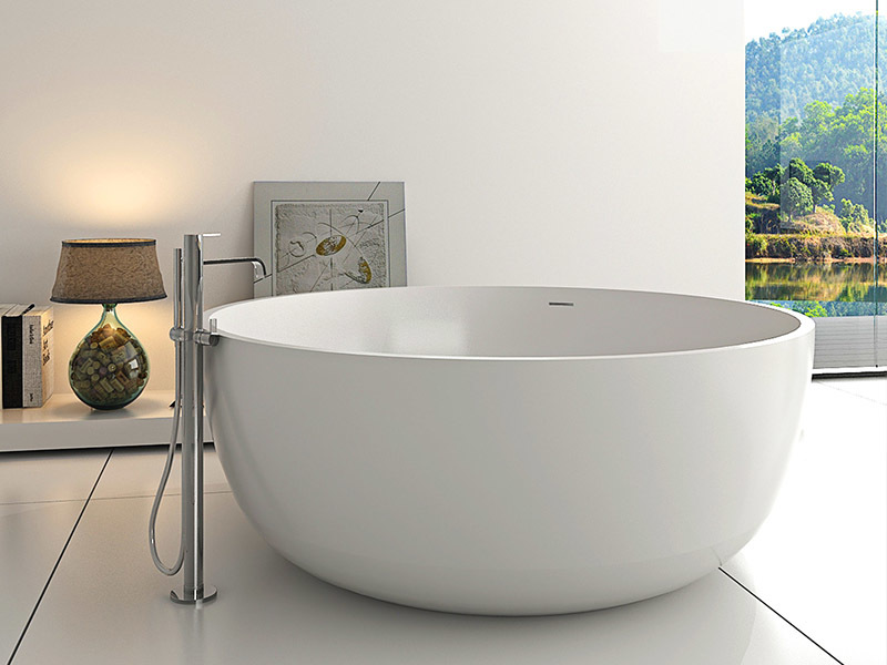Big round 1500mm resin solid surface bathtub BS-8615