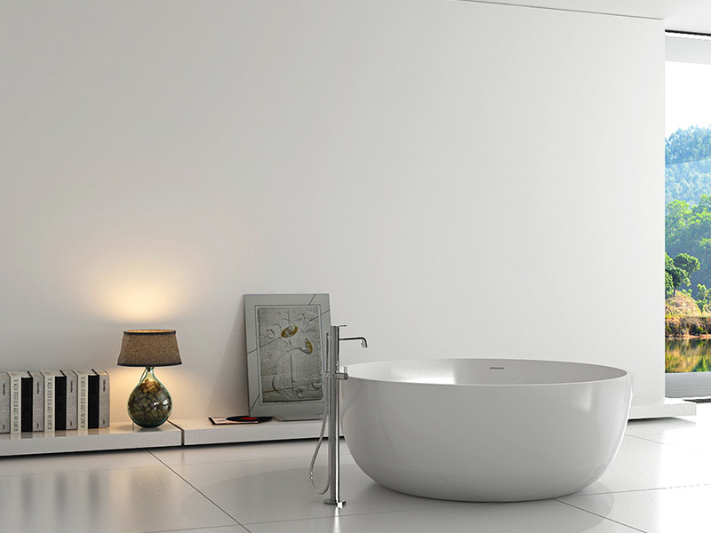 standing special solid surface bathtub Bellissimo Brand