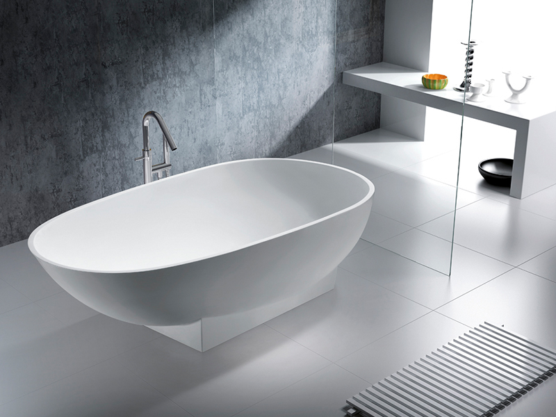 1800 mm royal boat design bathroom solid surface bathtub BS-8616