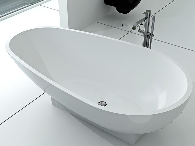 1800 mm royal boat design bathroom solid surface bathtub BS-8616