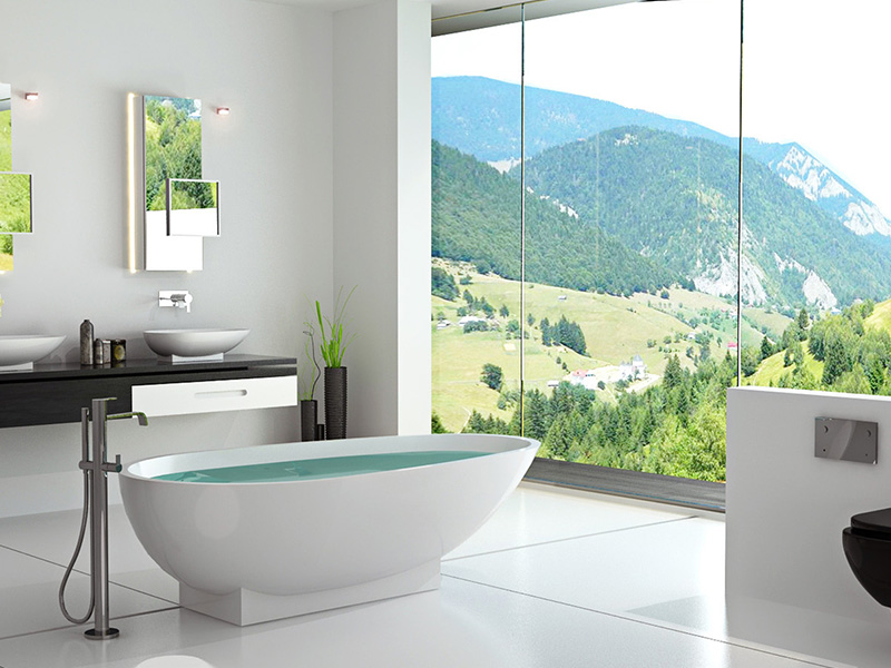 Bellissimo-1800 Mm Royal Boat Design Bathroom Solid Surface Bathtub