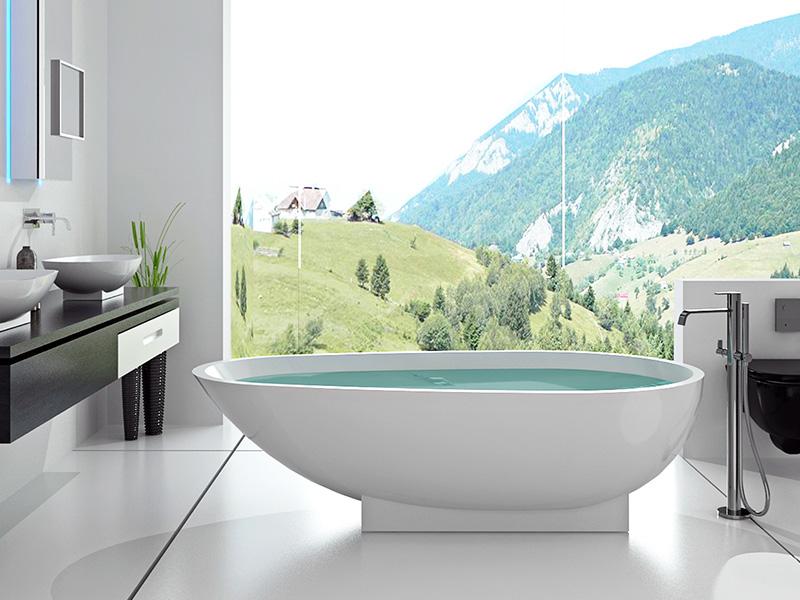 Bellissimo-1800 Mm Royal Boat Design Bathroom Solid Surface Bathtub-1