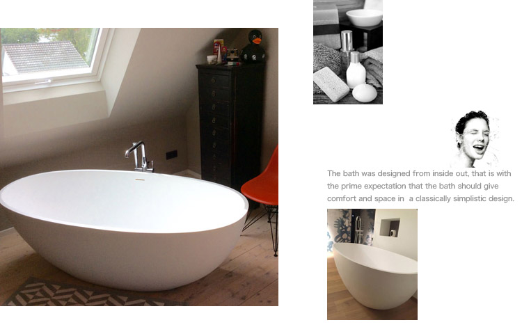 Bellissimo-Find Artificial Oval Shape Red Color Resin Solid Surface Bathtub-2