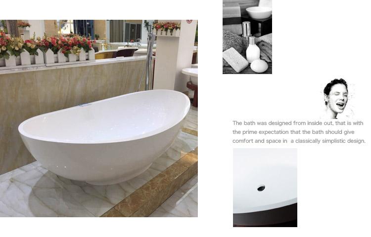 Bellissimo-Best Solid Surface Bathtub Stone Freestanding Bathtub on Bellissimo-2