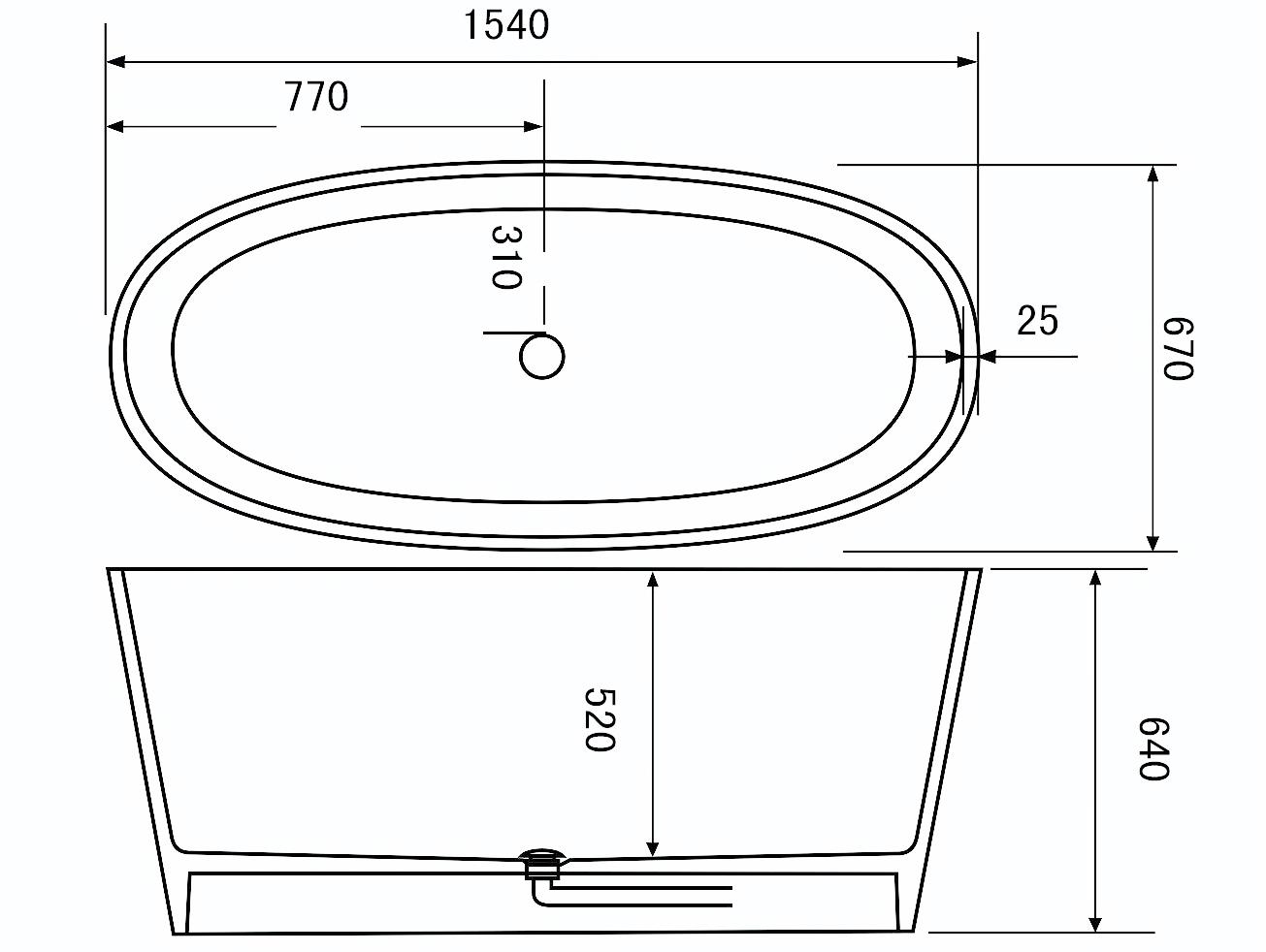 Bellissimo-Small deep freestanding bathroom solid surface bathtub on Bellissimo-3