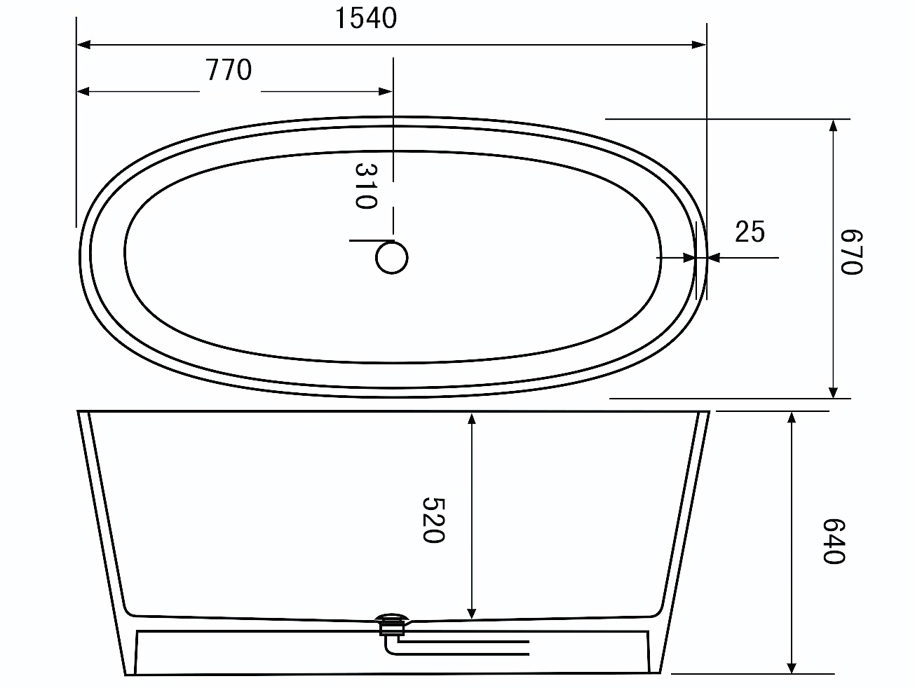color solid surface bathtub luxury bs8633a Bellissimo company