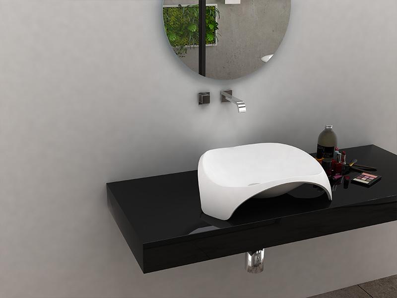 Art design countertop wash basin bathroom solid surface sink BS-8343