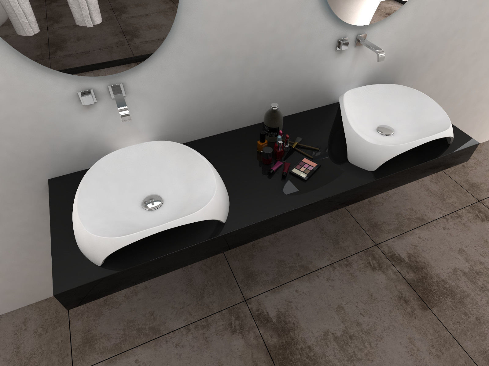 Bellissimo-Stone Bathroom Sink solid Surface Wash Basin On Bellissimo