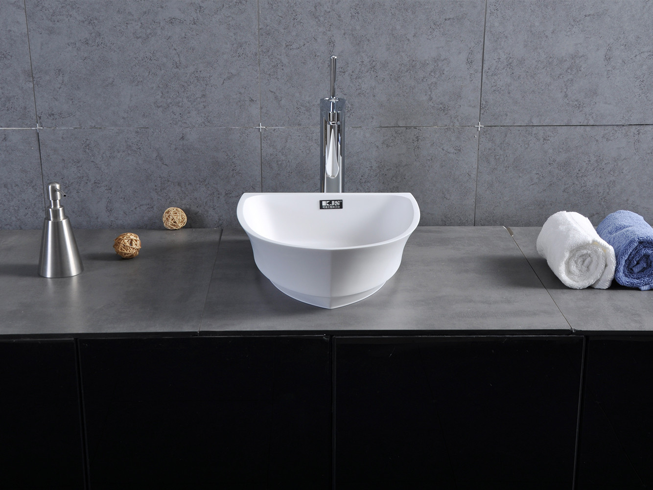 Bellissimo-High Quality Boat Shape Design Resin Solid Surface Wash Basin-1