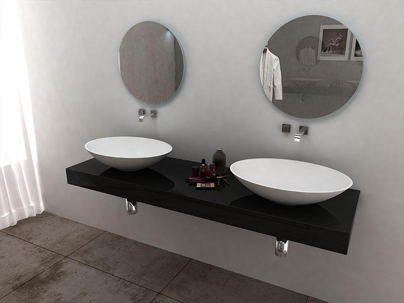 Art Colorful oval shape bathroom sink solid surface wash hand basin BS -8346