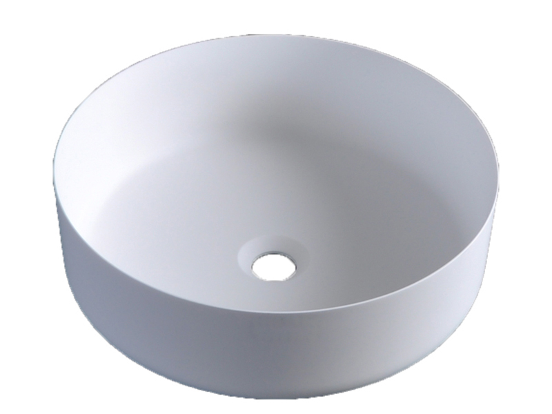 Colorful counter round wash basin bathroom sink BS-8347