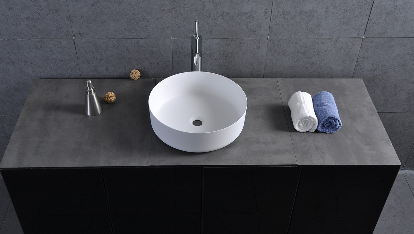 Bellissimo-Counter Round Wash Basin Bathroom Sink Bs-8347 | Solid surface