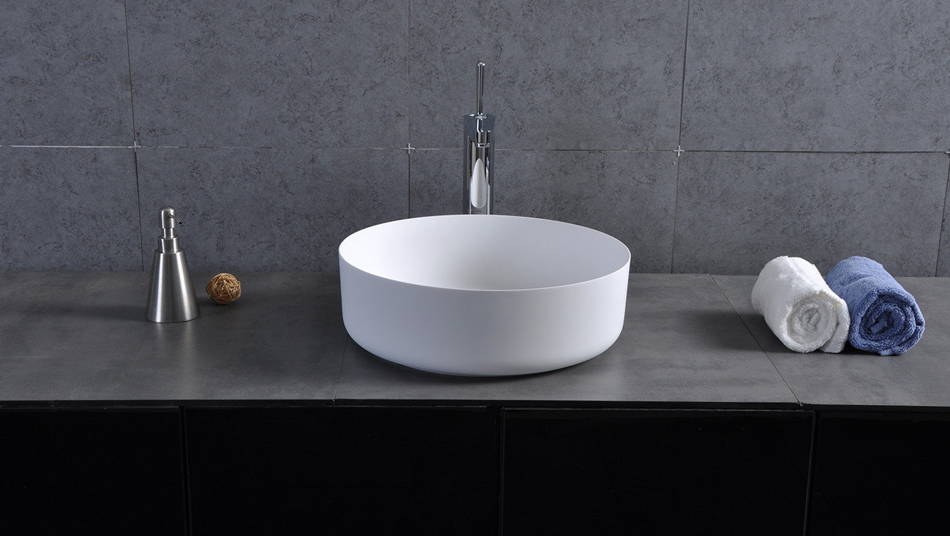 Bellissimo-Counter Round Wash Basin Bathroom Sink Bs-8347 | Solid surface-1