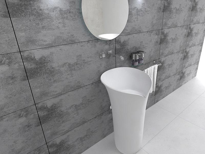 Lavabo pedestal wash basin freestanding bathrom sink BS-8513