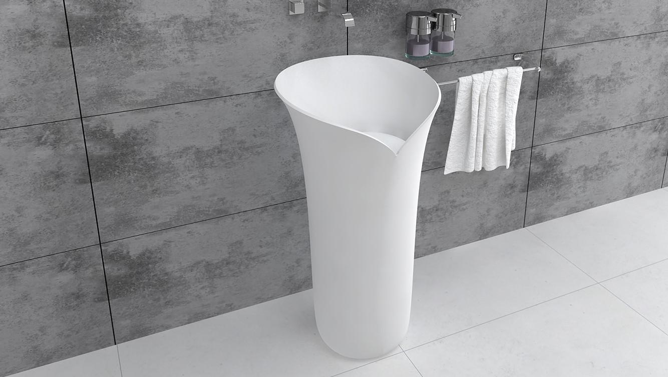 Bellissimo-Modern Round Design Freestanding Bathroom Pedestal Wash Basin