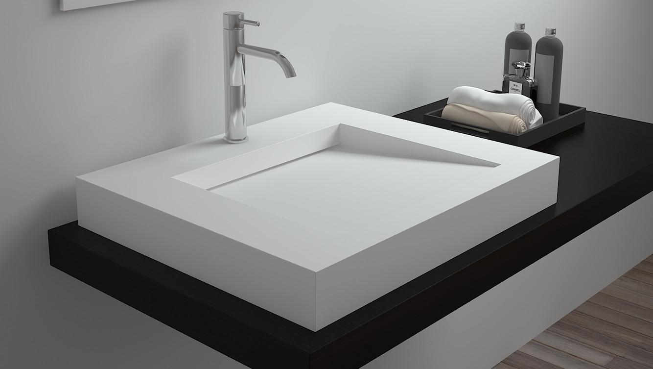 Bellissimo-Surface Mounted Basin Rectangular Wall Mount Sink From Bellissimo