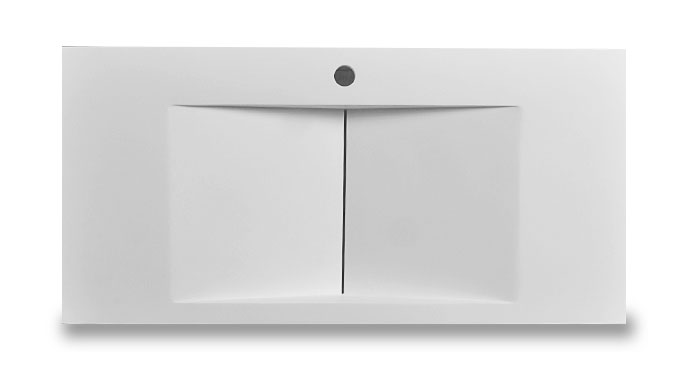 Bellissimo-Modern Design Stone Resin Wall Mounted Basin Bathroom Sink