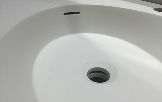 Bellissimo-Yacht Shape Wall Mounted Basin Bathroom Solid Surface Sink-2