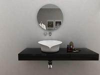 Unique design solid surface countertop wash basin bathroom sink BS-8341