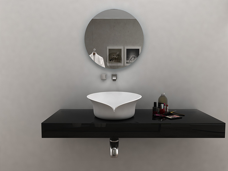 Unique design solid surface countertop wash basin bathroom sink BS-8341