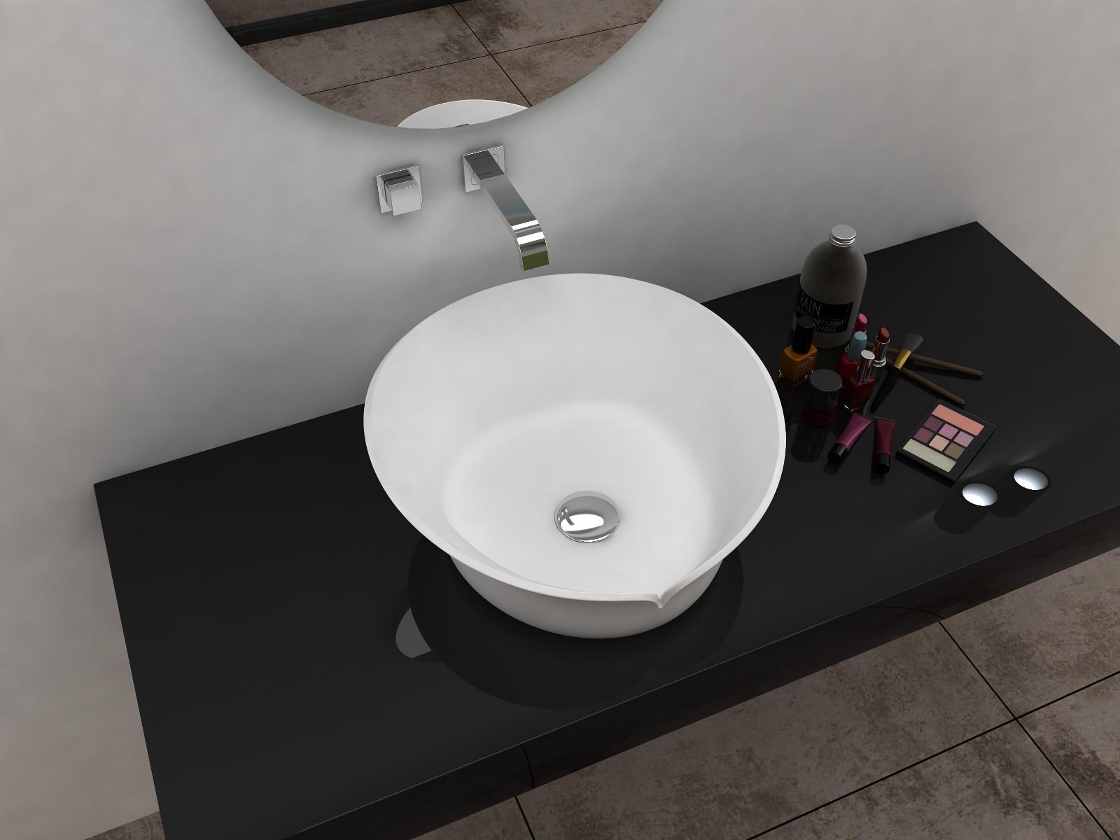 Bellissimo-Unique Design Solid Surface Countertop Wash Basin Bathroom Sink