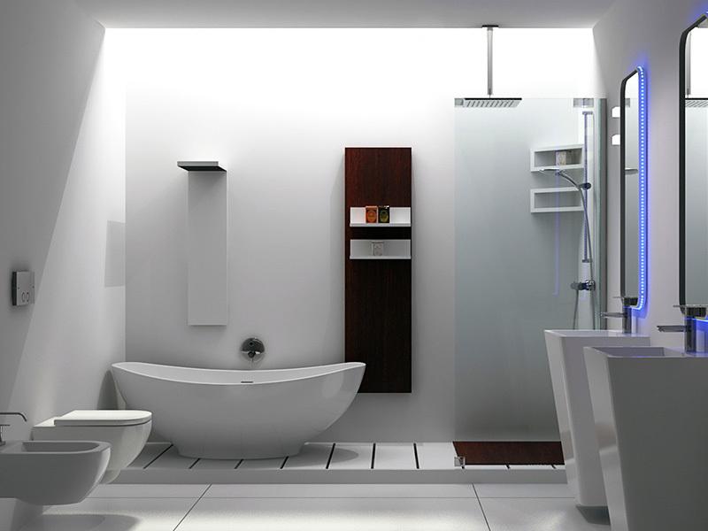 European style freestanding bathroom solid surface bathtub BS-8635