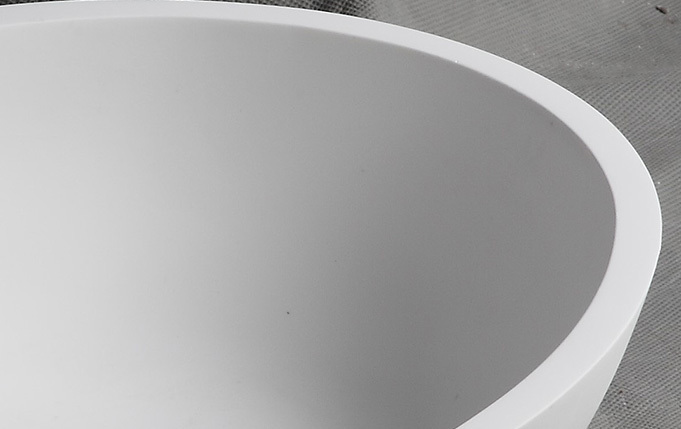 countertop basin stone bs8308 round Bellissimo Brand solid surface wash basin