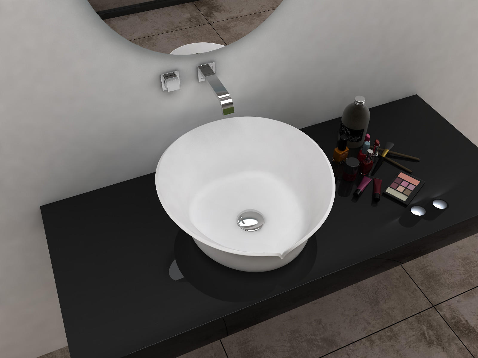 Bellissimo-Find Manufacture About Unique Design Solid Surface Countertop Wash Basin