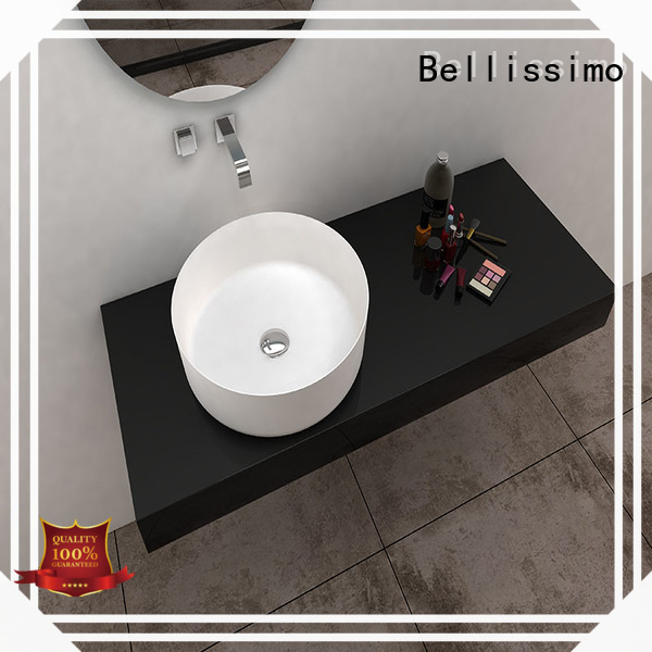 Bellissimo unique basin pedestal height bath for hotel