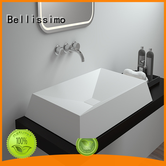 countertop basin bs8301t resin unique Bellissimo Brand solid surface wash basin