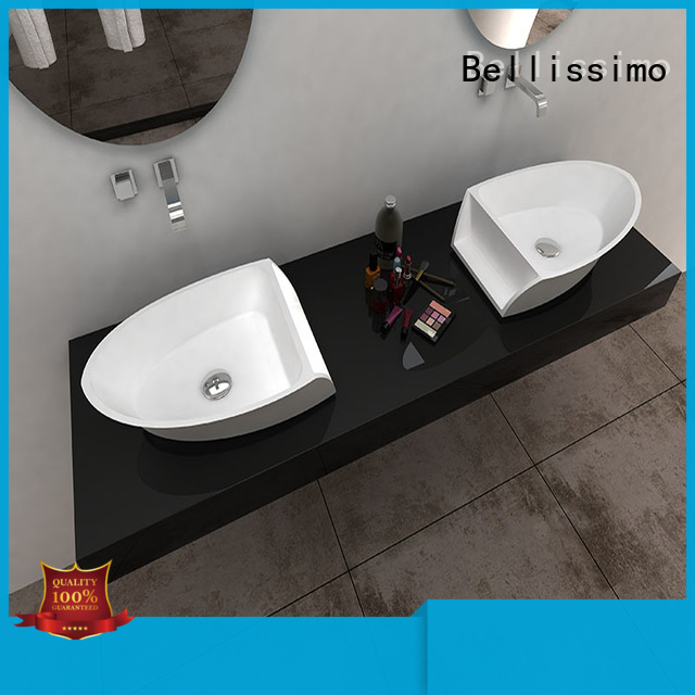 colorful wall hung hand basin design for bathroom