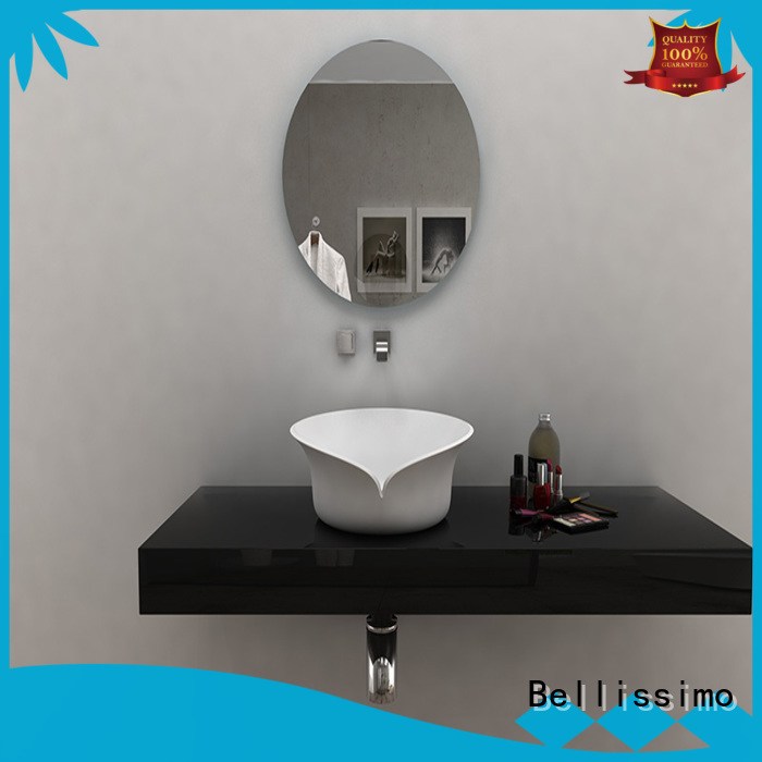 Bellissimo rectangle pedestal basin price cast for hotel