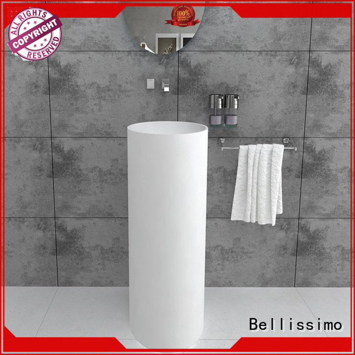 double surface free standing sink sink round Bellissimo company