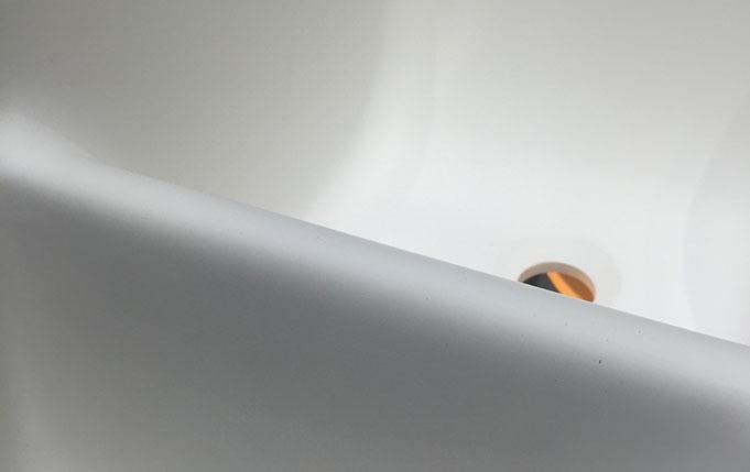 Bellissimo-Best Black Beard Shape Design Wall Mounted Bathroom Sink Solid Surface-2