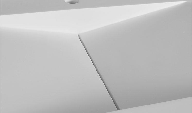 Bellissimo-Modern Design Stone Resin Wall Mounted Basin Bathroom Sink Bs -8408 | Solid-1