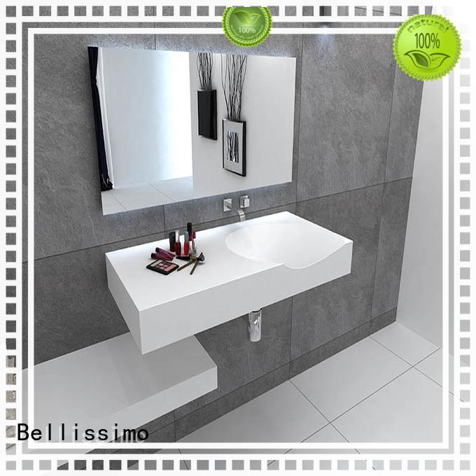 bs8346 small wall mount bathroom sink yacht bathroom Bellissimo Brand