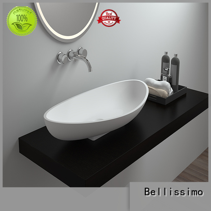 Bellissimo Brand rectangle resin countertop basin stone