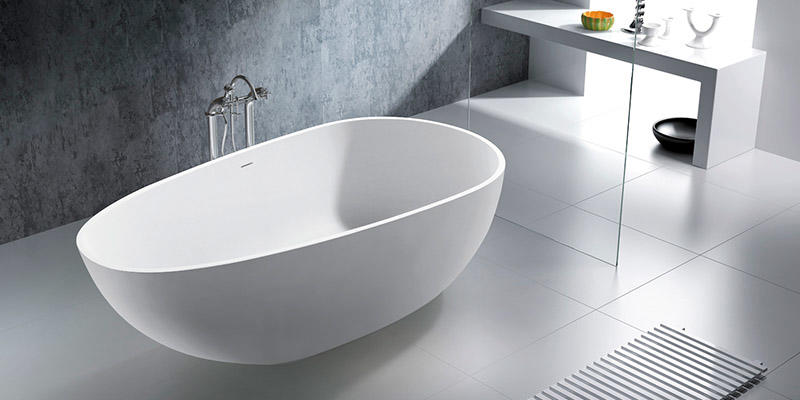 Bellissimo-Oval Design Color Optional Luxury Solid Surface Bathtub Bs-8608 | Best-1