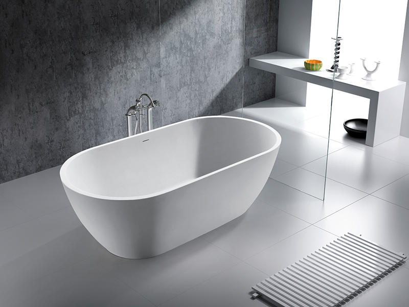 Bellissimo-Best Oval Freestanding Solid Surface Resin Bathroom Bathtub Bs-8612 Free