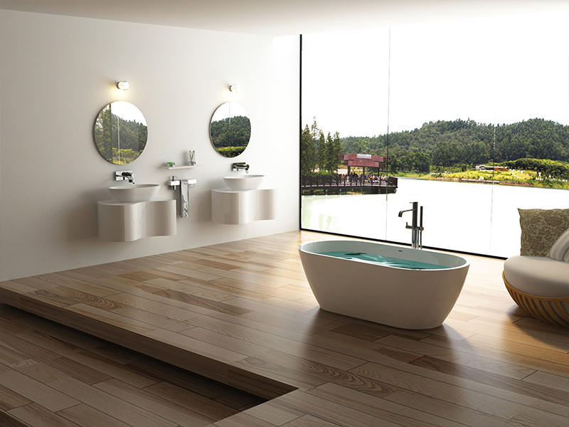Bellissimo-Best Oval Freestanding Solid Surface Resin Bathroom Bathtub Bs-8612 Free-1