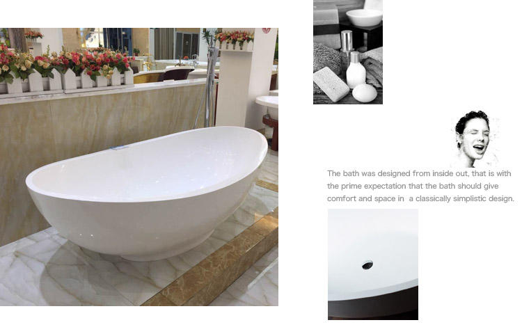 Bellissimo-High-quality European Style Freestanding Bathroom Solid Surface Bathtub-2