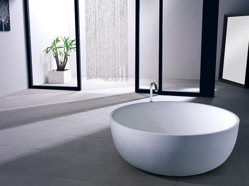 Bellissimo-Big Round 1500mm Resin Solid Surface Bathtub Bs-8615 | Solid Surface Bathtub