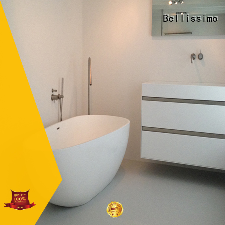 floor mounted stone freestanding tub with faucet for hotel
