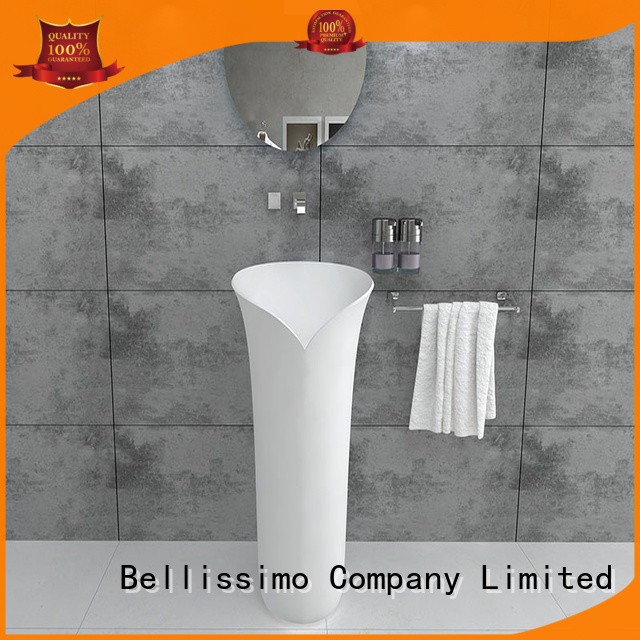 round freestanding bathrom freestanding bathroom basin Bellissimo manufacture