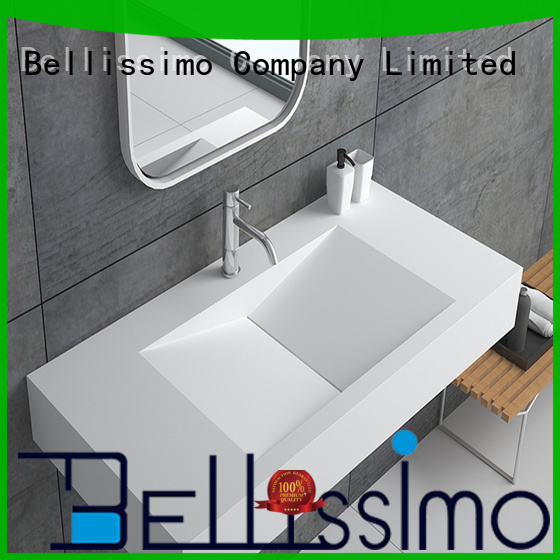Quality Bellissimo Brand small wall mount bathroom sink resin