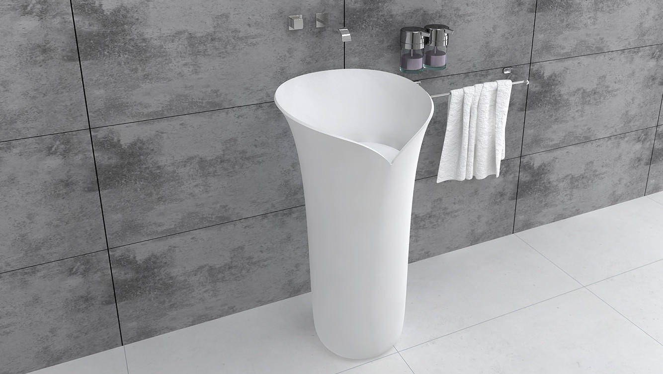 Bellissimo-High-quality Lavabo Pedestal Wash Basin Freestanding Bathrom Sink Bs-8513
